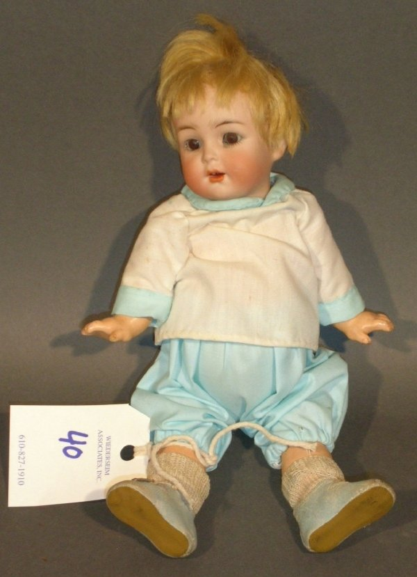 "40: Simon Halbig bisque head baby doll, 126. 9.5""l."