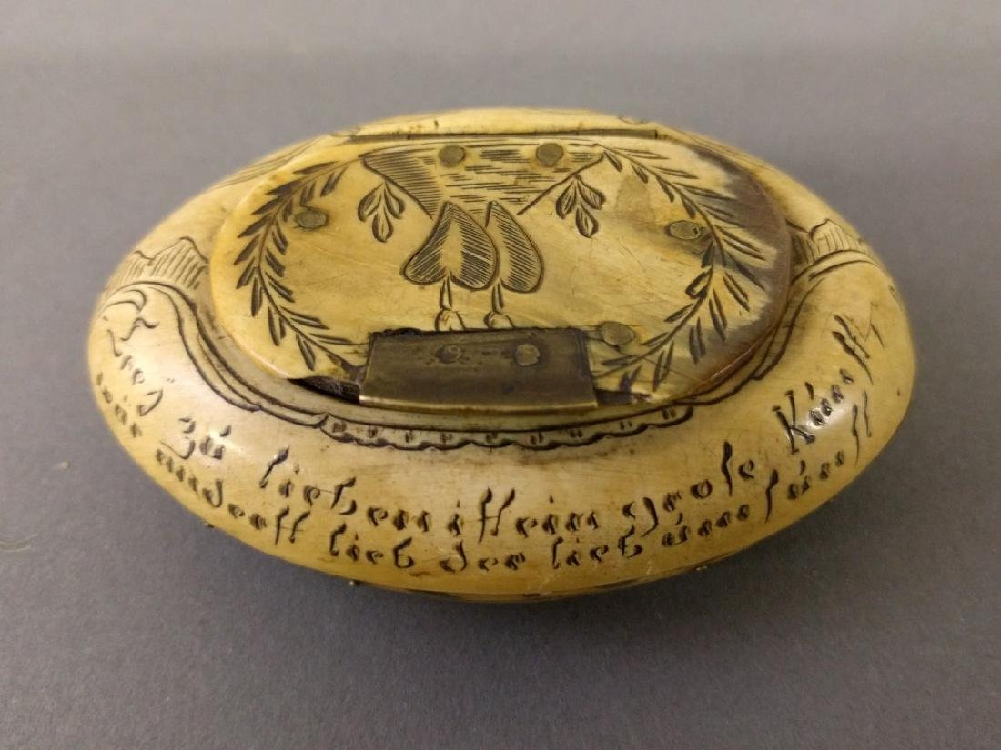 Carved snuff box