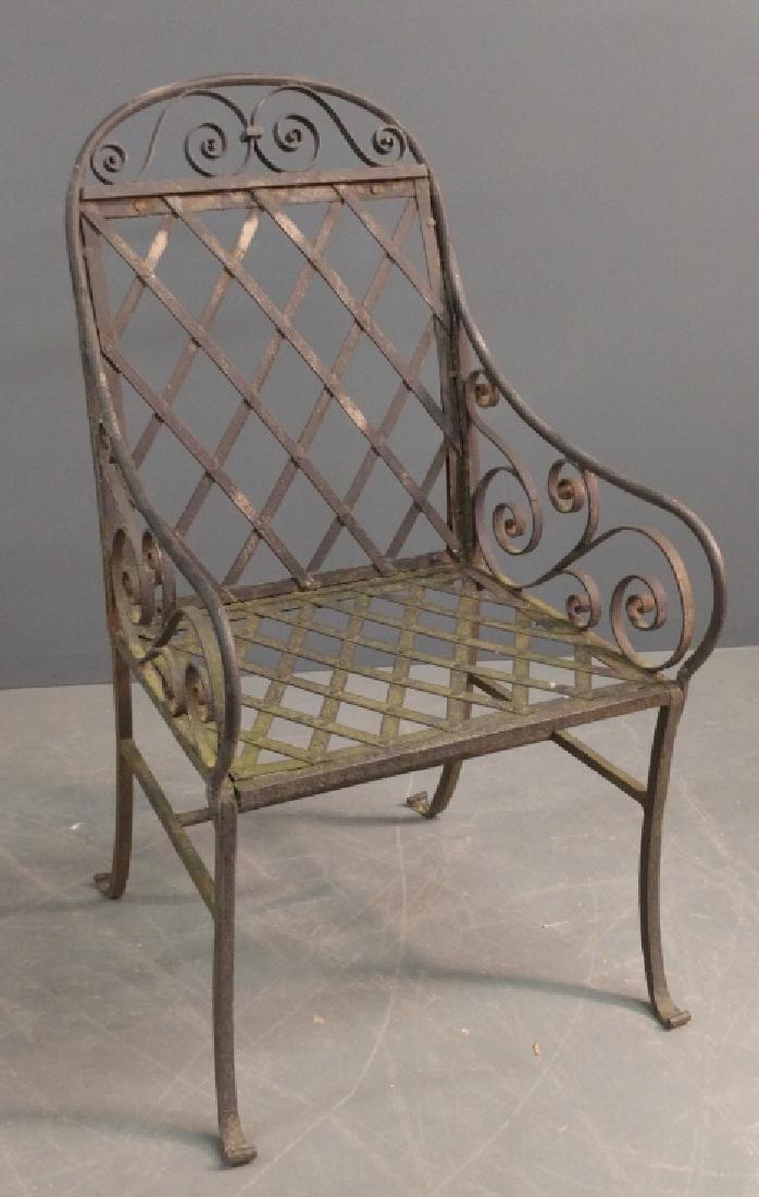 Wrought iron armchair