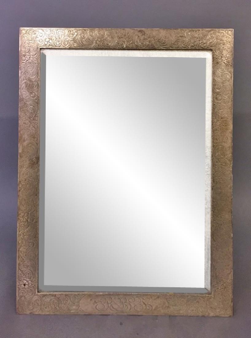 Large Sterling Silver Framed Mirror