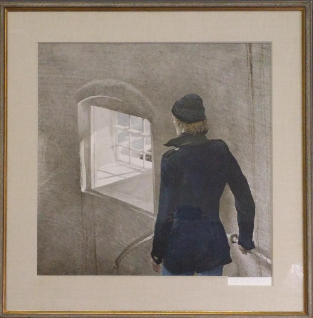 """Andrew Wyeth Hand Signed Print """"The Reefer"""""""