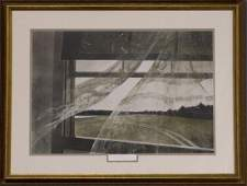 """Andrew Wyeth Hand Signed Print """"Wind From the Sea"""""""