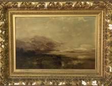 Arthur Parton Oil on Canvas Landscape