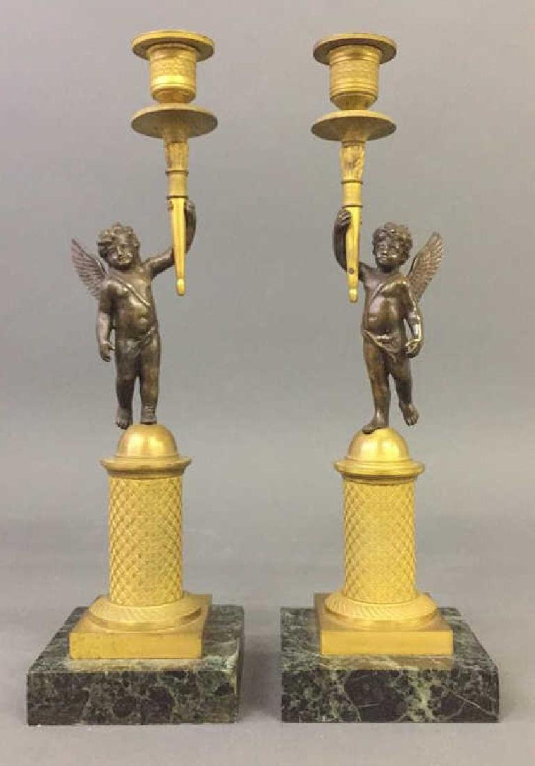 Pair of French Empire Candlesticks
