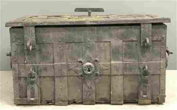 German Wrought Iron Strong Box