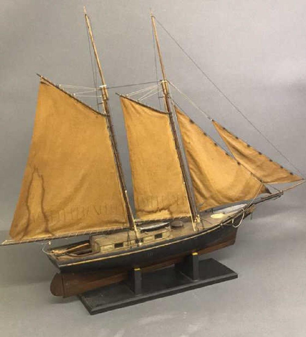 "Wood Painted Model of the Coastal Schooner ""Mary"""