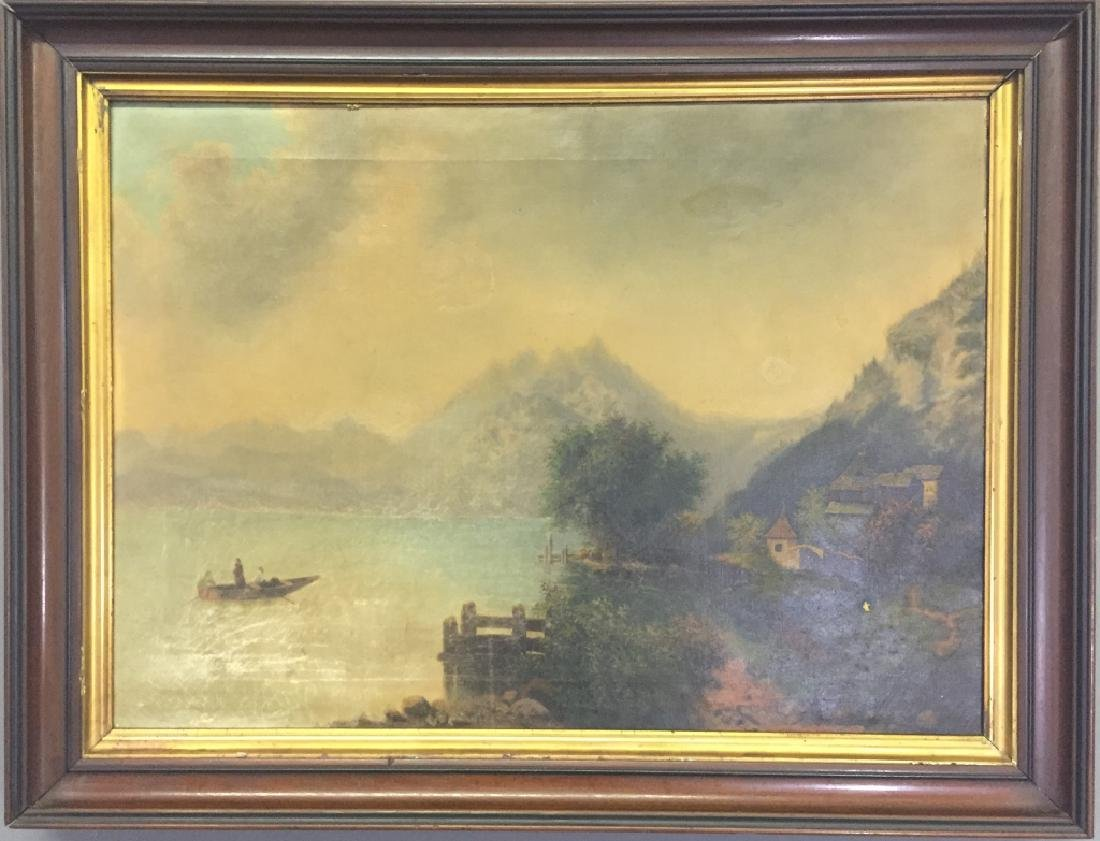 Oil on Canvas Hudson River School Painting