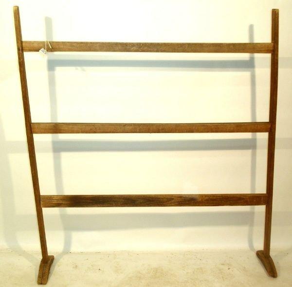 19: Primitive maple quilt rack, late 19th c.