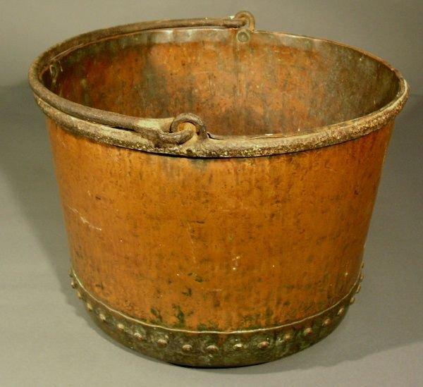 "26: Copper apple butter kettle, mid 19th c. 12""h.x17"" d"