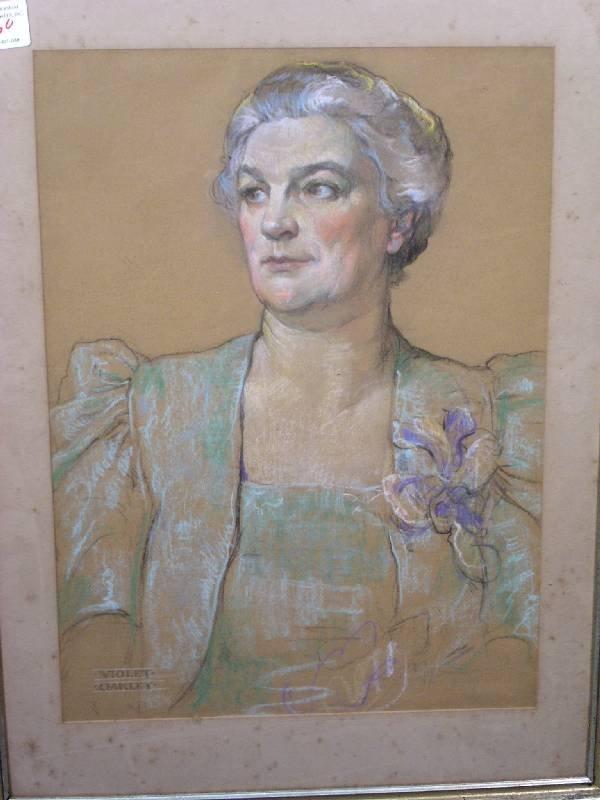 60: Oakley, Violet [American 1874-1961] pastel portrait