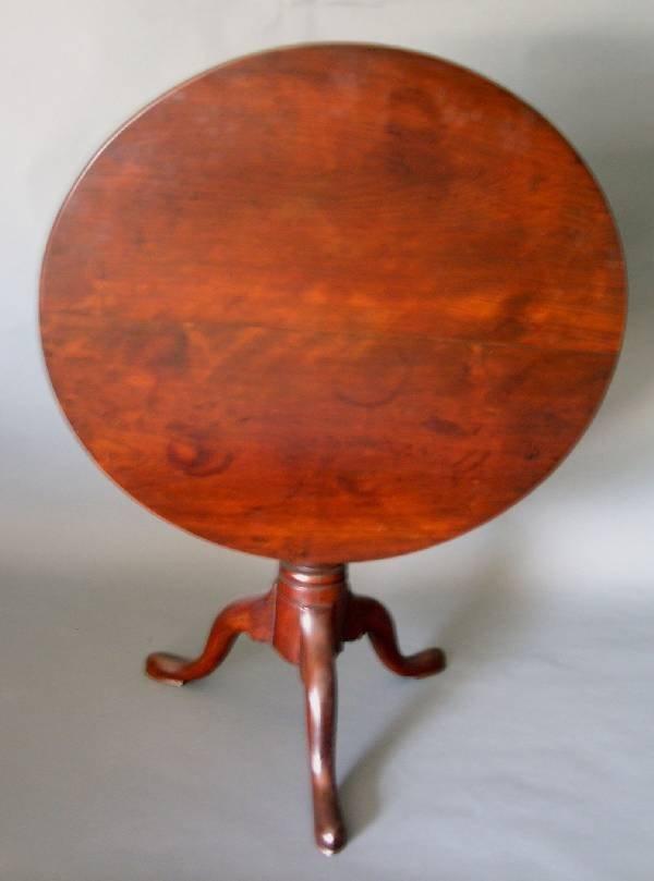280: Pennsylvania cherry tea table, c.1780, circular to