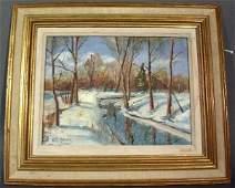 568: Baum, Walter Emerson [American, 1884-1956] oil on