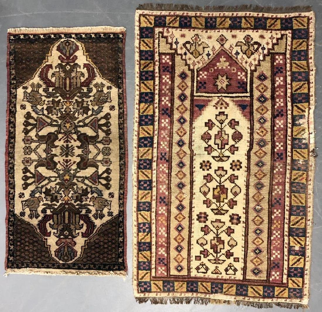 Grouping of Turkish Prayer Rug and Smaller Mat