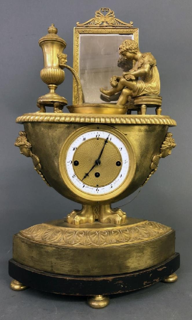 Rare Vienna Gilt Bronze Repeating & Musical Clock