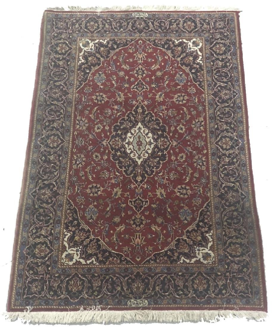 Very Fine Signed Persian Kashan Carpet