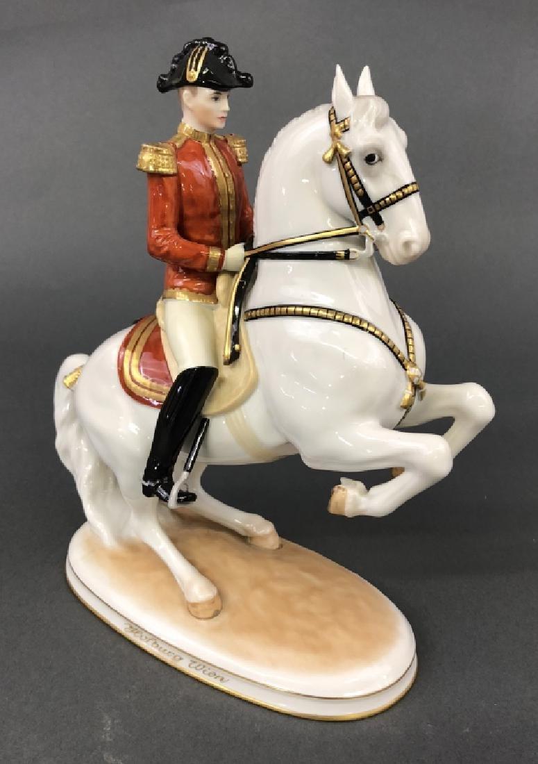 "Augarten Porcelain ""Levade with Rider"""