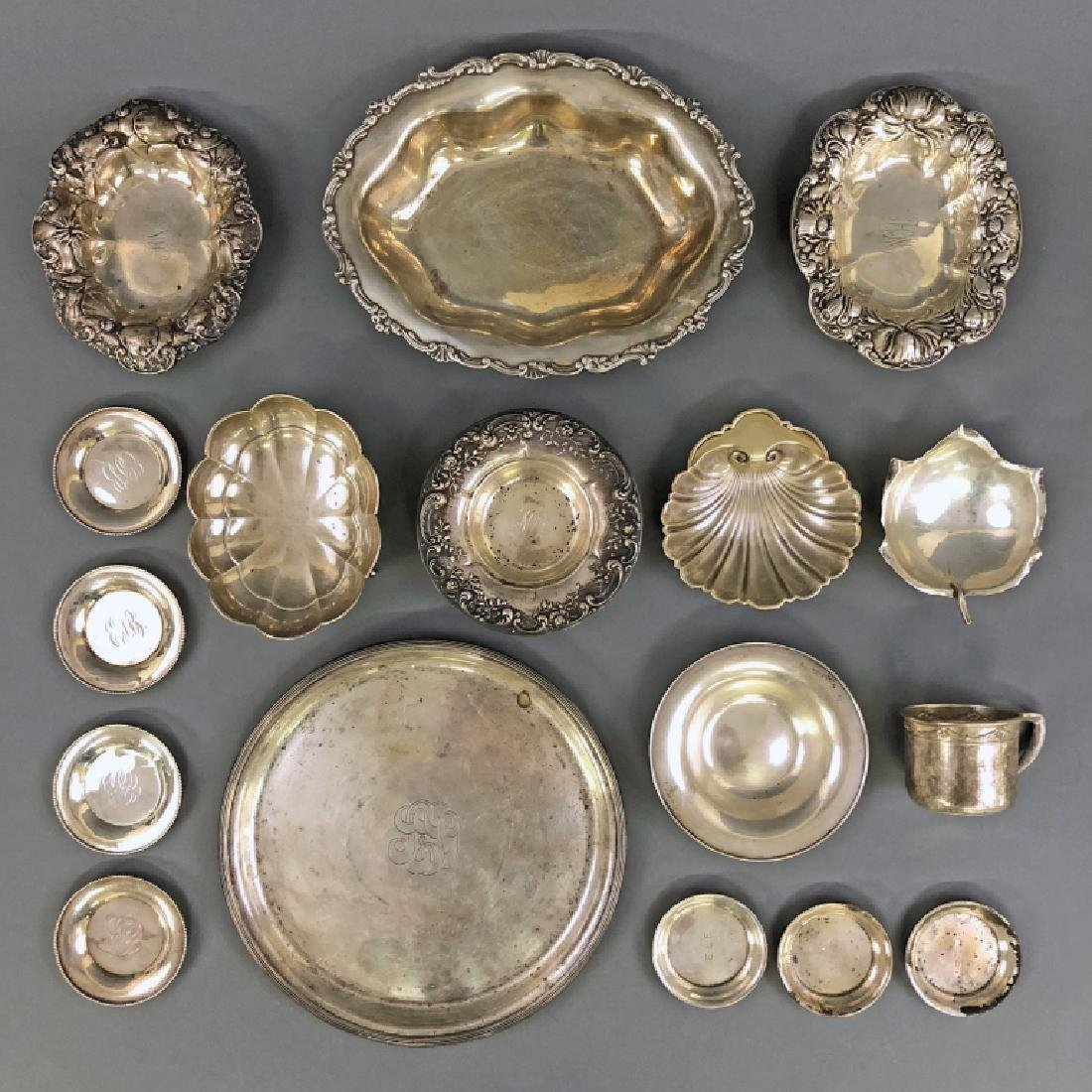 Sterling Silver Tableware with Bread Tray