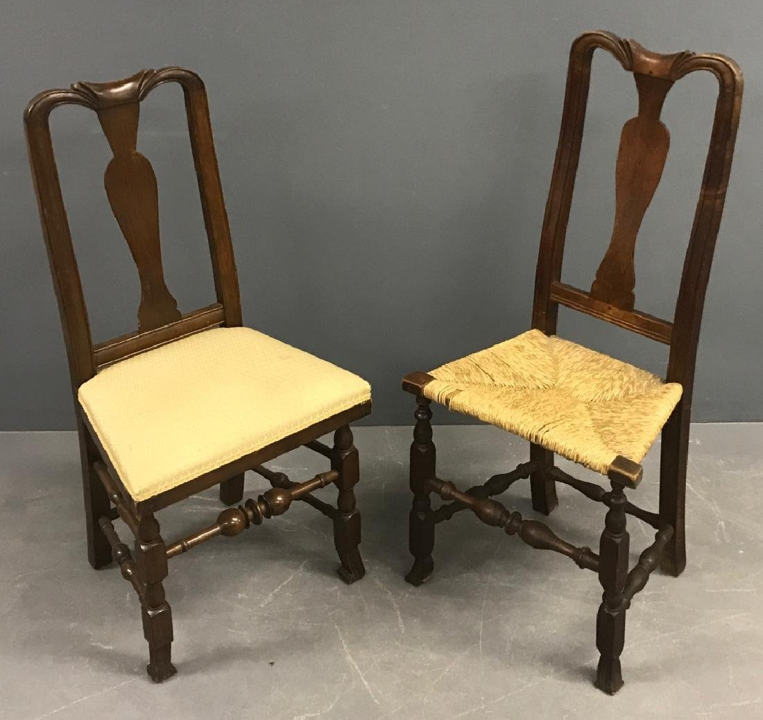 New England Queen Anne Mahogany Side Chair