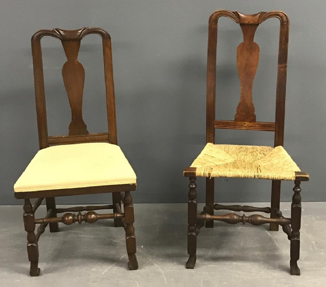 New England Queen Anne Mahogany Side Chair - 2