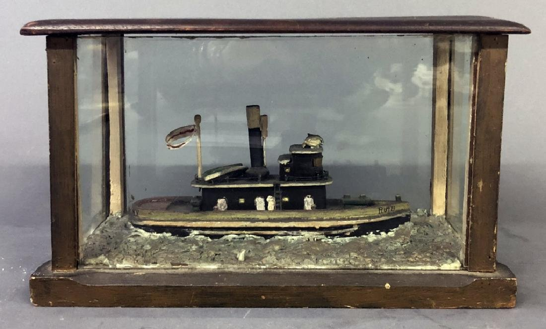"Waterline Model of the Tug Boat ""Ruth of NY"""