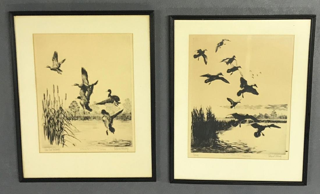Two Original Signed Richard Bishop Etchings