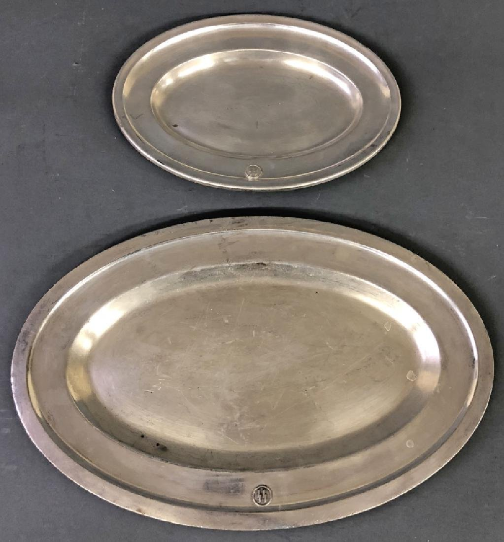 Two WWII Era German Silverplate Hotel Platters
