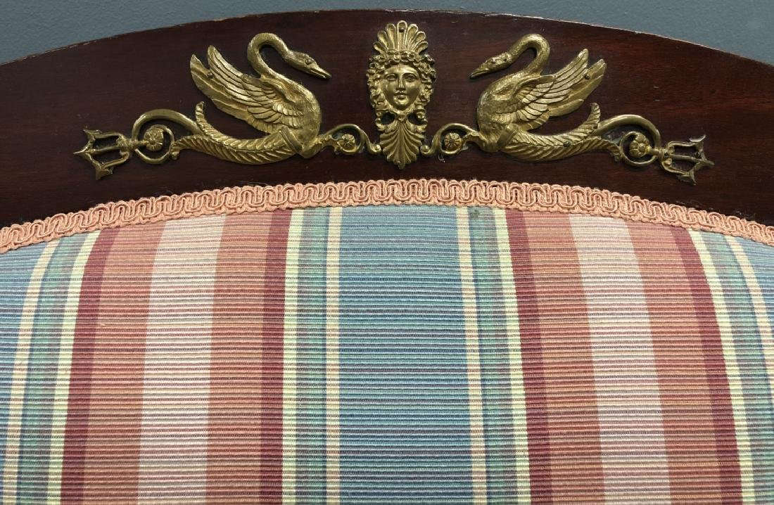 Empire Revival Mahogany Settee and Chairs - 8
