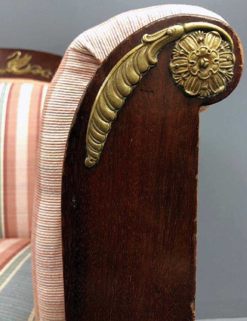 Empire Revival Mahogany Settee and Chairs - 9