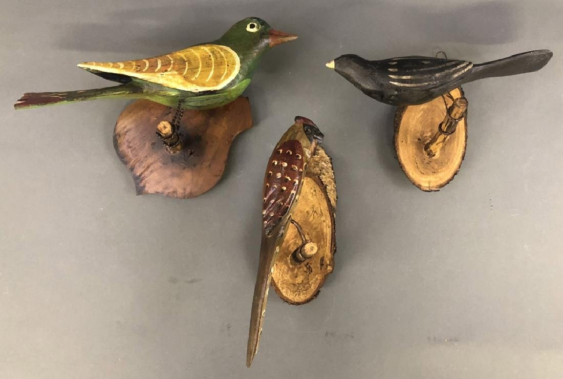 Grouping of Continental Paint Decorated Birds