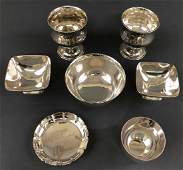 Grouping of Sterling Silver with Footed Bowls