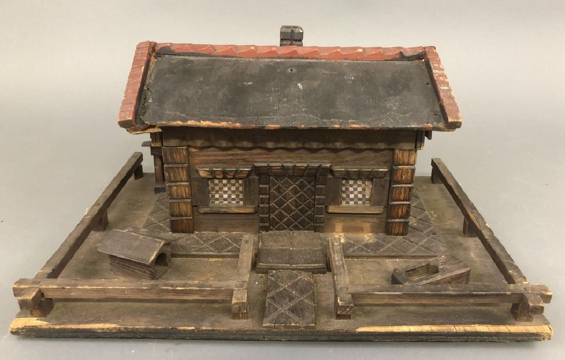 Carved Alpine Cottage Valuables Box