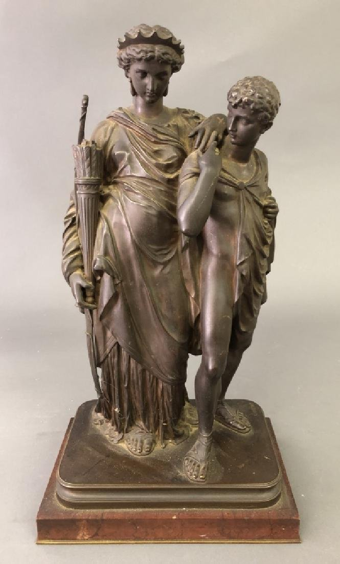 Bronze after Eugene Laurent of Two Figures