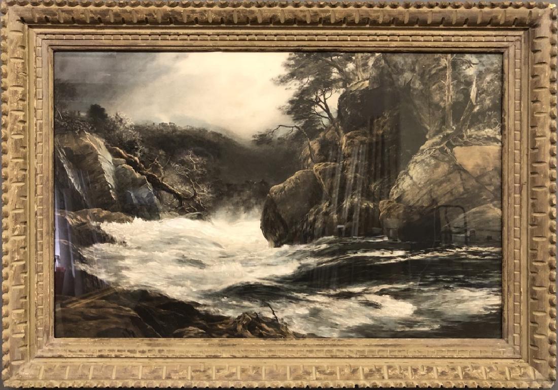 John MacWhirter Gouache of a Mountain Stream