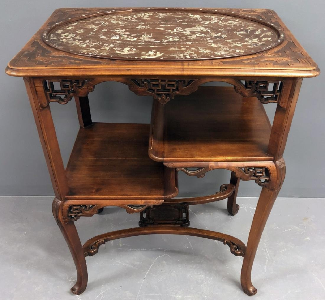 Chinese Mother-of-Pearl Inlaid Table