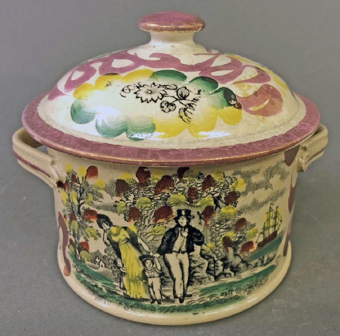 English Lustre Covered Jar with Sailor's Verse