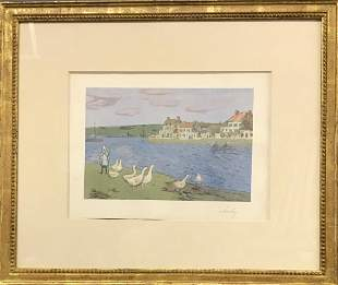 Alfred Sisley Original Signed Color Lithograph