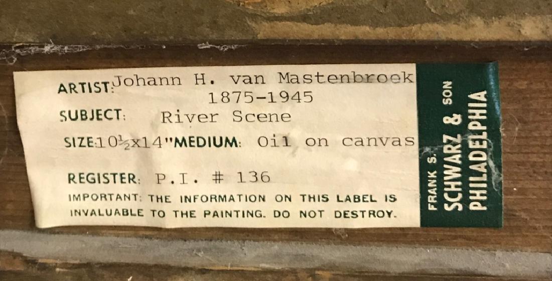 Johann Hendrik Van Mastenbroek Oil on Canvas - 6