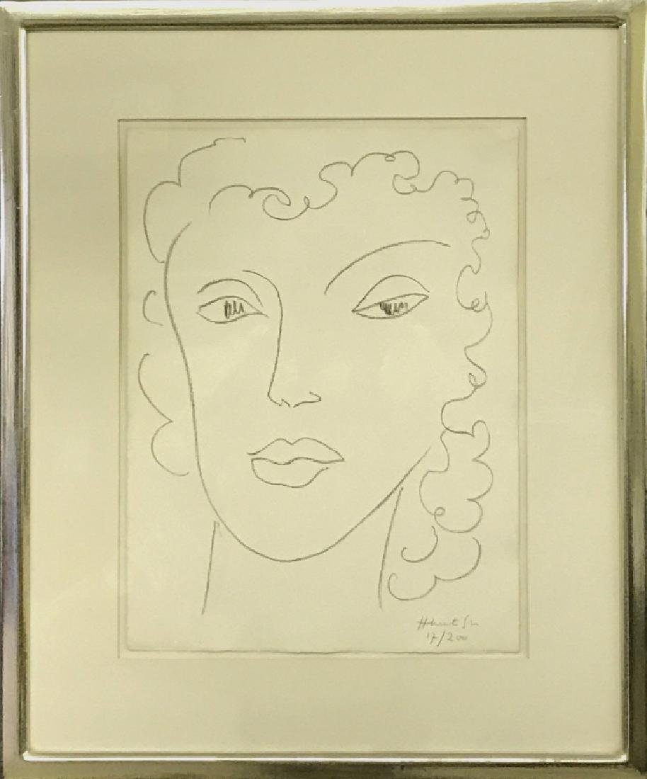 """Henri Matisse Signed Lithograph """"Head of a Woman"""""""