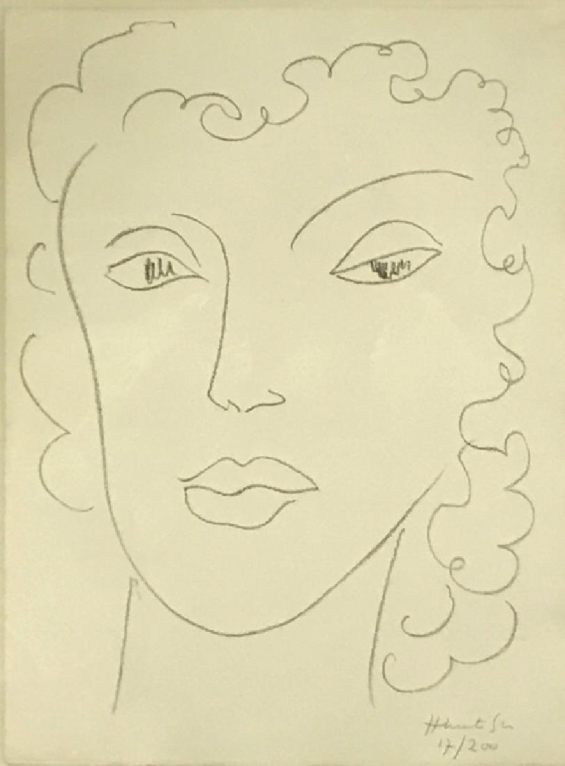 """Henri Matisse Signed Lithograph """"Head of a Woman"""" - 2"""