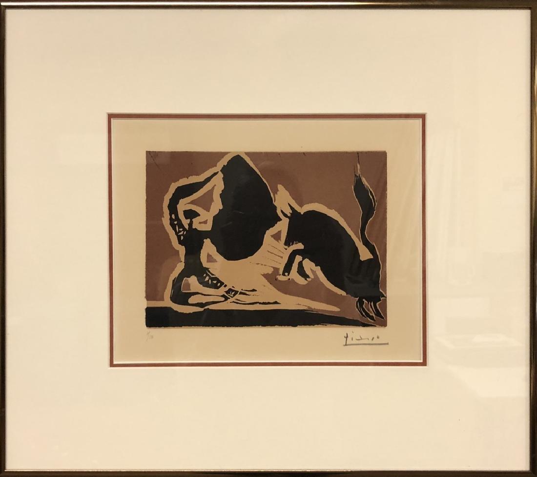 "Picasso Signed Linocut ""Farol"""