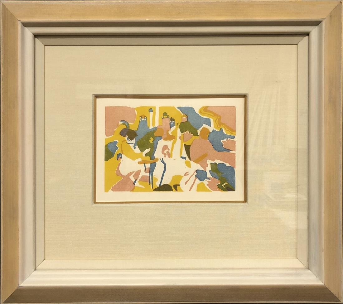 "Kandinsky Original Color Woodcut ""Orientalisches"""