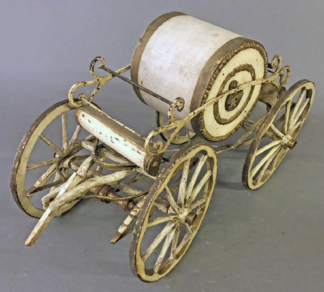 Miniature Fire Hose Horse Drawn Wagon