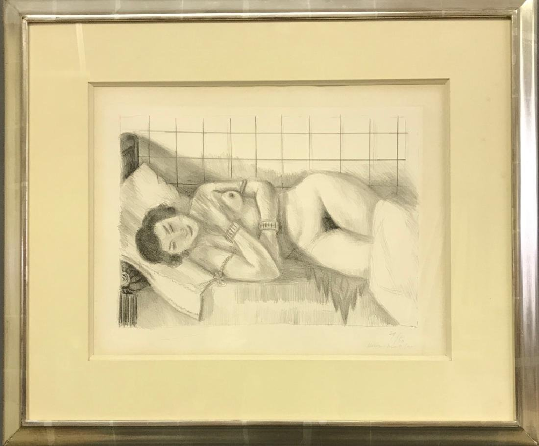 "Matisse Signed Lithograph ""Figure Endormie..."""