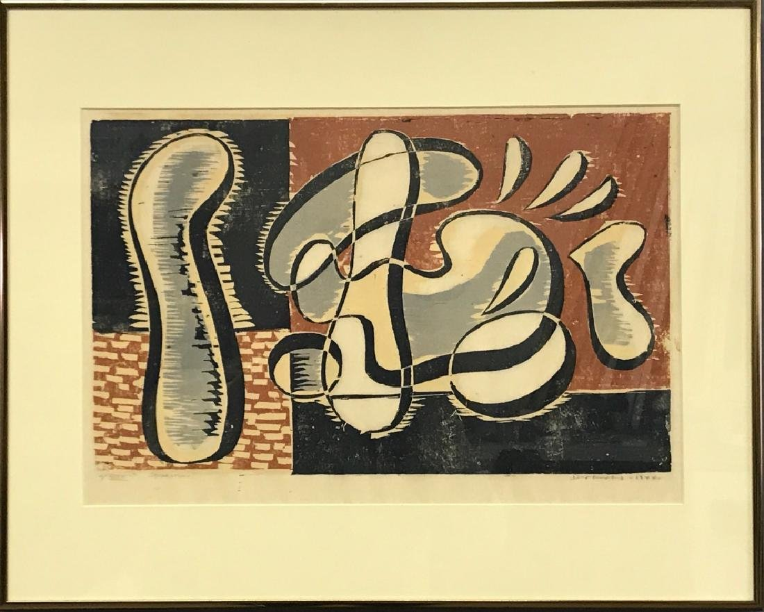 "Werner Drewes Color Woodcut ""Separation"""