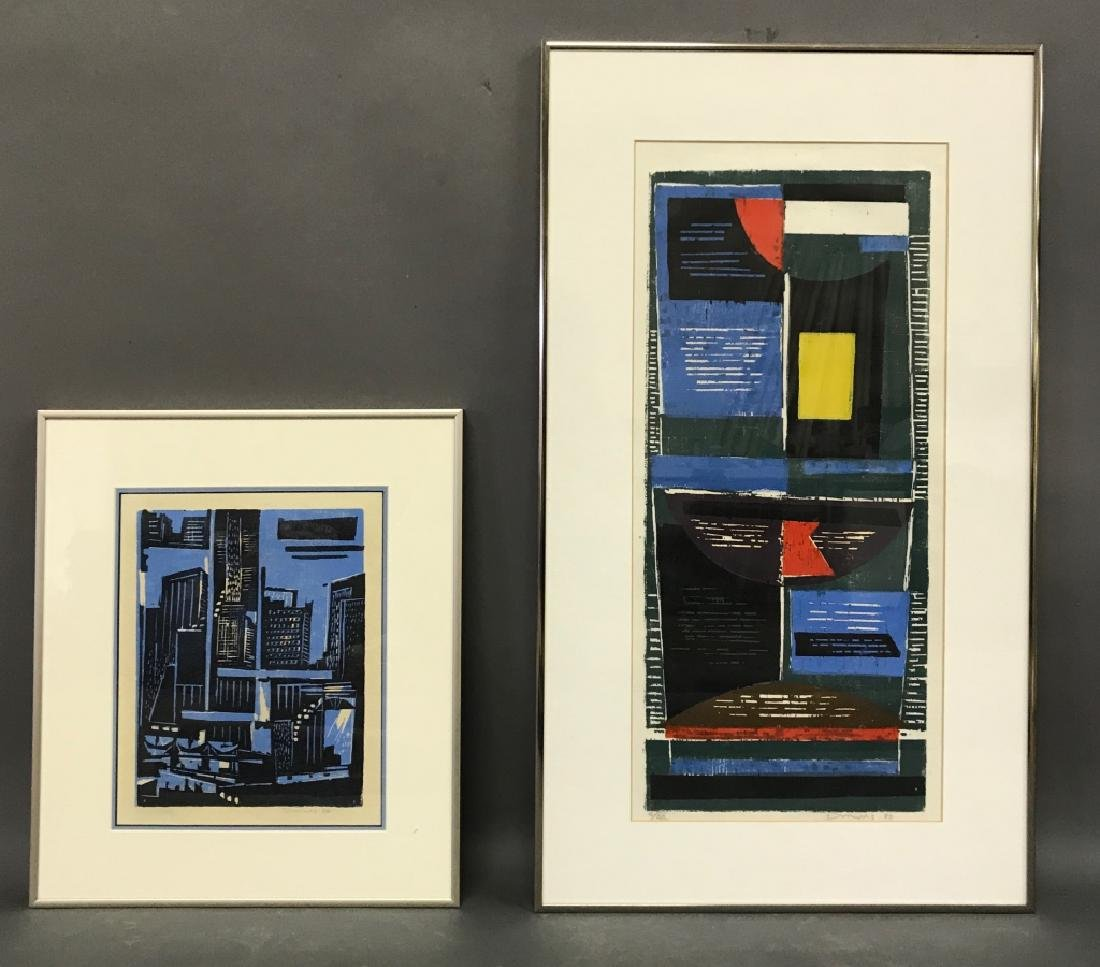 Two Werner Drewes Color Woodcuts
