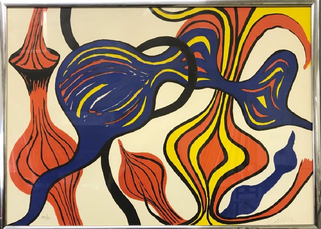 Alexander Calder Signed Color Lithograph