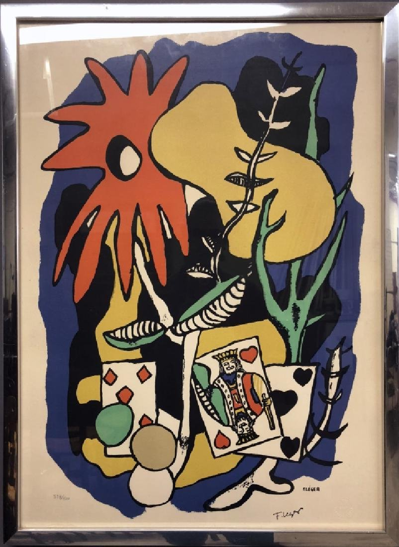 "Léger Signed Color Lithograph ""The King of Hearts"""