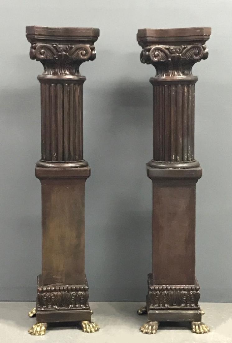 Pair of Victorian Style Pedestals