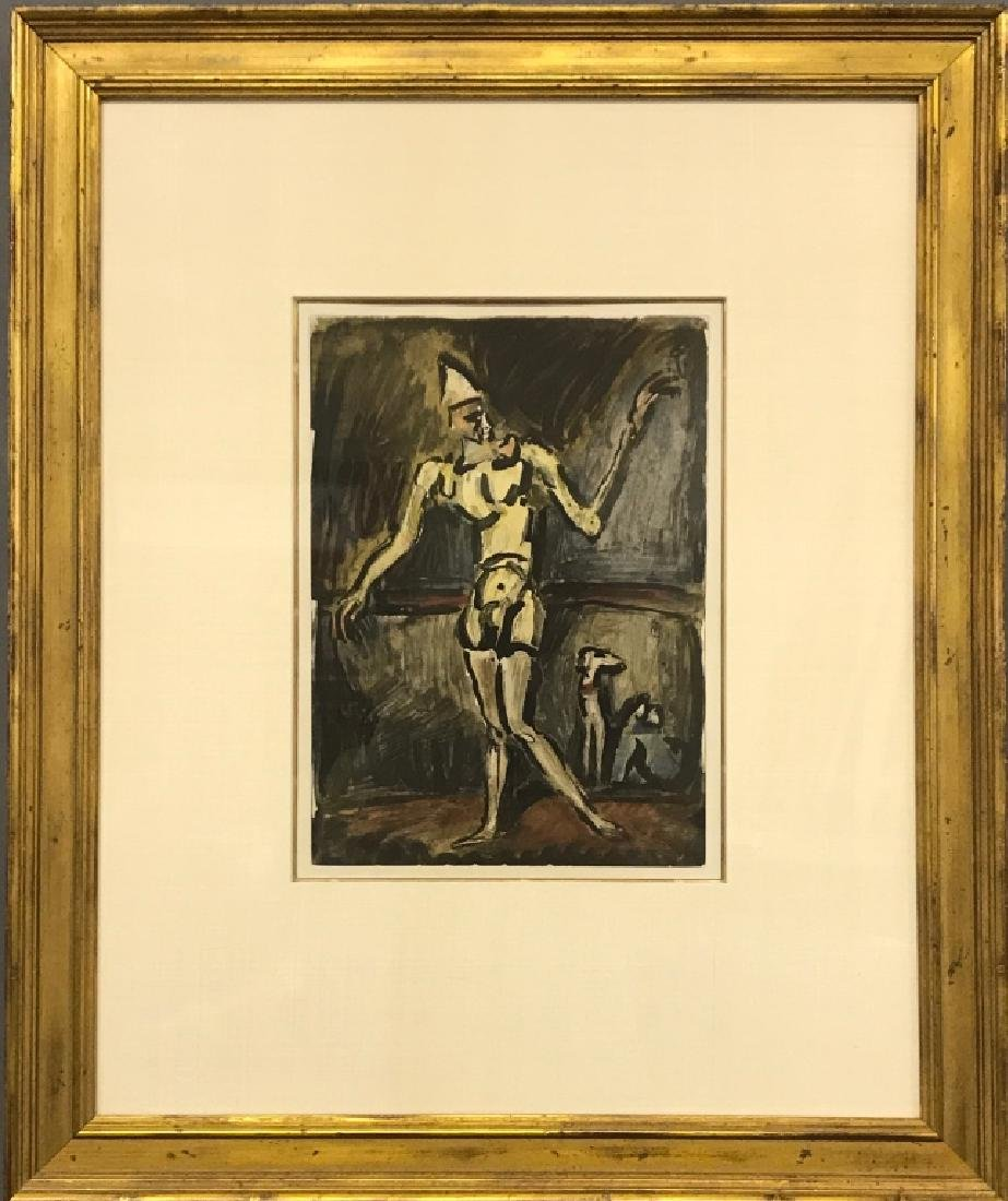 "George Rouault  Aquatint ""Le Clown Jeune"""