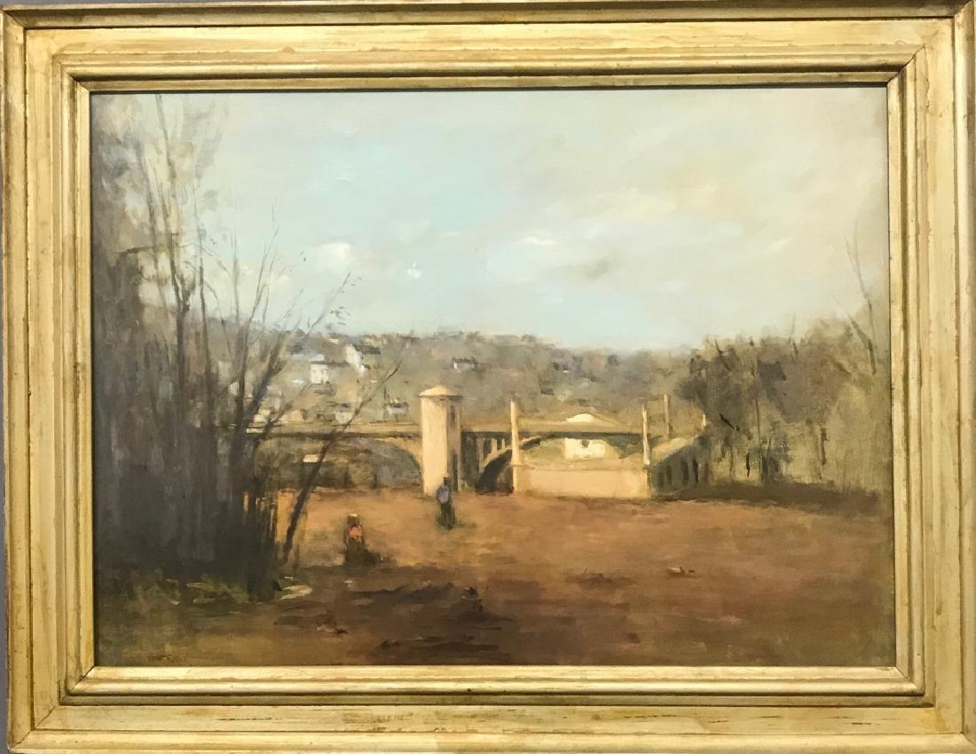 Seymour Remenick Oil on Canvas of Conshohocken, PA